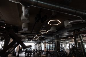 Fitness terem világítás